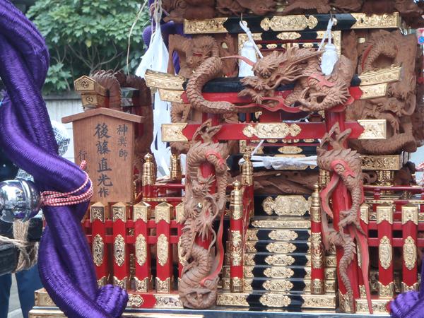 野沢稲荷神社の神輿(後藤直光作)