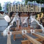 塚越御嶽神社の神輿3(ちょっと近くから)