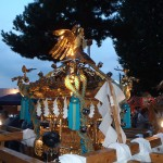 小山五丁目町会 「五友曾」の神輿(斜めから)