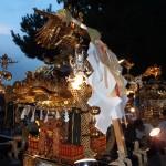 小山六丁目町会 「六親曾」の神輿(横から)
