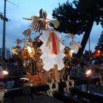 小山六丁目町会 「六親曾」の神輿(斜めから)