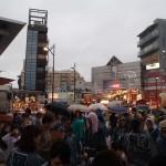 武蔵小山両社祭 駅前で雨3