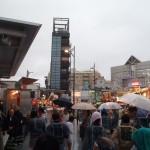 武蔵小山両社祭 駅前で雨1
