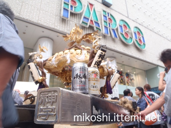 北谷稲荷神社神輿 パルコ前