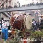 奉祝パレードの太鼓