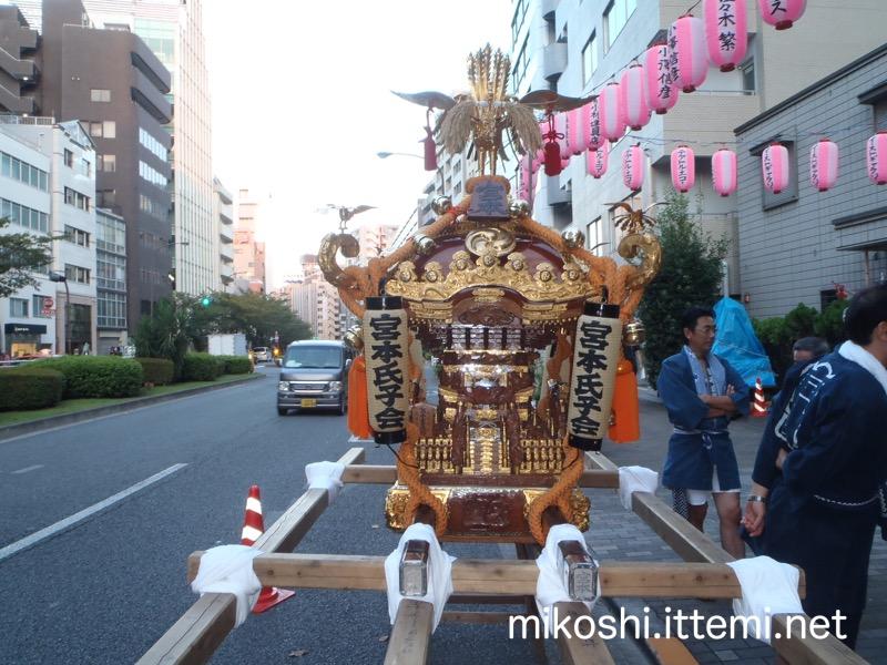 渋谷氷川神社 宮本氏子会の神輿