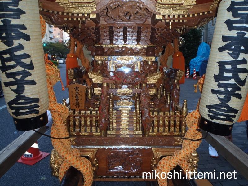 渋谷氷川神社 宮本氏子会の神輿(接写)