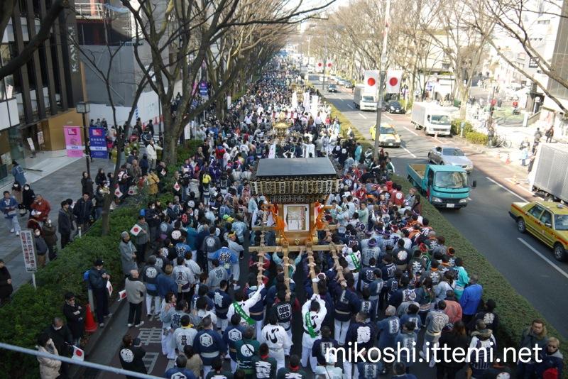 明治神宮 奉祝パレード 神輿 2016年2月11日の建国記念日