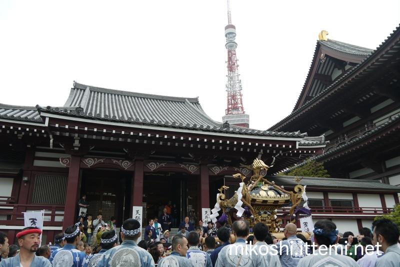 神輿と増上寺と東京タワー