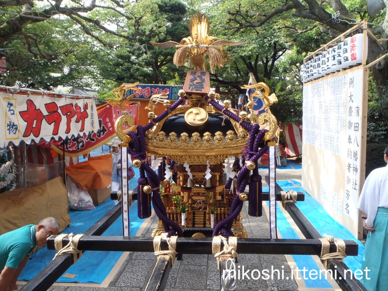 蒲田八幡神社の神輿(アップ)